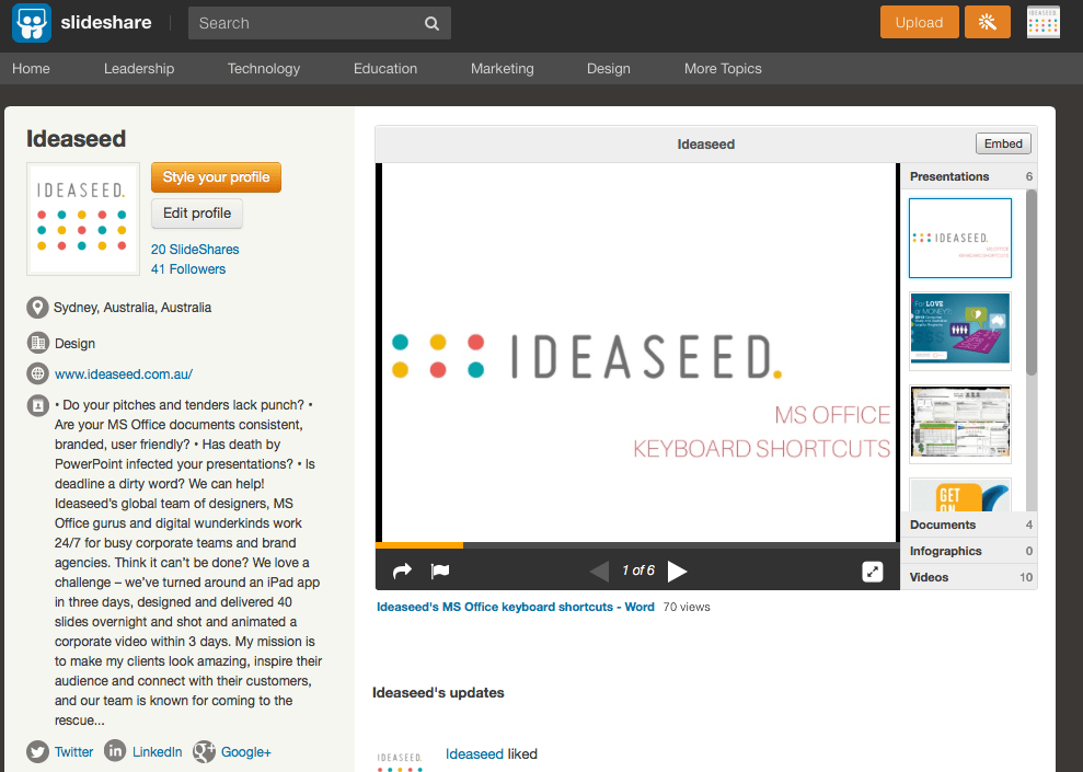 how to make the most of slideshare