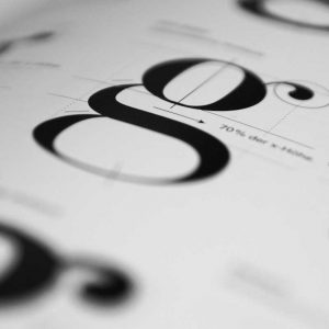 design mistakes, soft focus shot of a font book